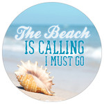 Conch Shell - The Beach is Calling, I must go - Absorbent Stone Coaster for Car Cup Holder CB73109