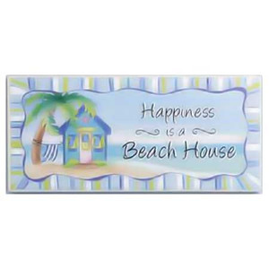 Beach Happiness Wood Wall Plaque 30914