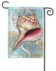 """Sea Shell """"Ocean Treasure"""" Garden Flag 34490"""