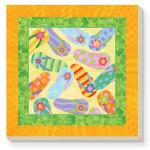 Flip Flops Square Stone Coasters - Set of 4 - 34979