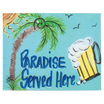 Paradise Served Here Canvas 35363
