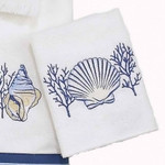 "Sea Shells ""Nassau White"" Wash Cloth 35423"
