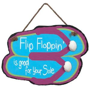 Hand Painted Flip Flop Slate Sign 36686