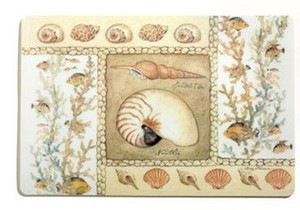 "Sea Shells ""Nautilus"" Laminated Placemat - 42790"