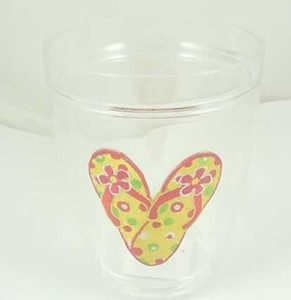 """Flip Flops """"Block Party"""" Insulated 12 oz. Tumbler Cup - 55750"""