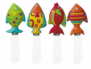 Tropical Fish Spreader Knives Set of 4 - 98177