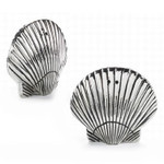 Sea Shell Salt & Pepper Shaker Set - Metal - 104050