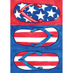 Flip Flops Patriotic HOUSE Flag - 107097
