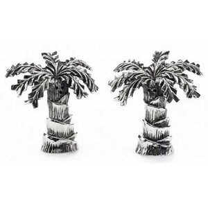 Palm Tree Salt & Pepper Shaker Set - Metal - 108250