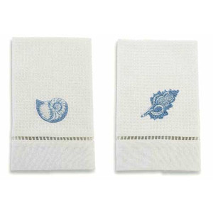 Set of 2 Waffle Weave Embroidered Towel 108439