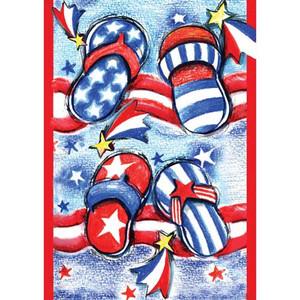 USA Flip Flops Garden Flag 112608