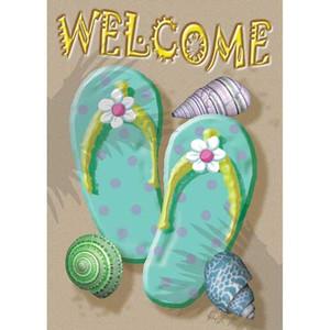 """Flip Flops """"Welcome"""" Garden Flag - 117074"""
