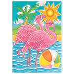Flourescent Flamingo Garden Flag 141112