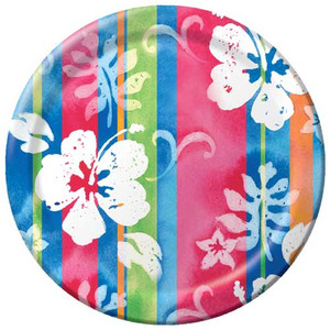 "Hibiscus Tropical Paper Plates 7"" 412744"
