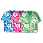 "Tropical Hibiscus Shirt Paper Plates 9"" 420744"