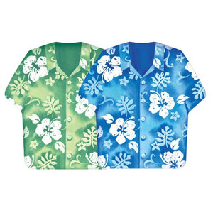 Assorted Hibiscus Shirt Paper Lunch Napkins 660744