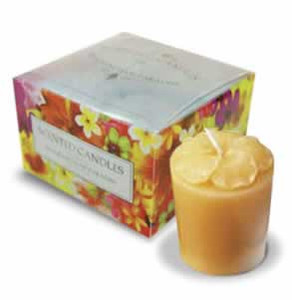 Pineapple Hibiscus 4-Pack Glass Votive Candles - 01437000