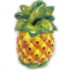 Pineapple Shaped Ceramic Tea Light Holder with Battery Candle - 1458000