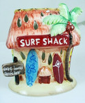 Surf Shack Shaped Ceramic Tea Light Holder with Battery Candle - 1459000