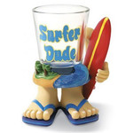 Surfer Dude Polyresin Novelty Shot Glass 01698000