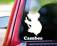 "Koala Bear vinyl decal sticker with Custom Personalized Name 6"" x 4"""