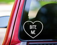 "Bite Me Heart vinyl decal sticker 5"" x 4.5"""