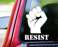 "RESIST with PROTEST FIST Vinyl Decal Sticker 8"" x 6"""