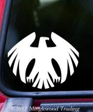 "HERALDIC EAGLE v1 Vinyl Decal Sticker 5"" x 4"" Coat of Arms Heraldry Genealogy"