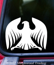 "HERALDIC EAGLE v2 Vinyl Decal Sticker 5"" x 4"" Coat of Arms Heraldry Genealogy"