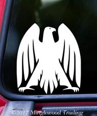 "HERALDIC EAGLE v3 Vinyl Decal Sticker 5"" x 4.5"" Coat of Arms Heraldry Genealogy"