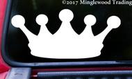 "CROWN Vinyl Decal Sticker 5"" x 2.25"" King Queen Princess Prince Tiara - V1"