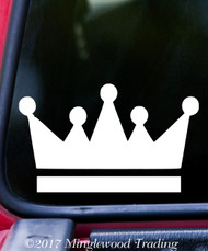 "CROWN Vinyl Decal Sticker 5"" x 3"" King Heraldry Heraldic Shield - V2"