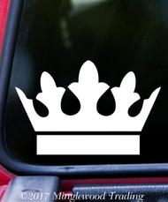 "CROWN Vinyl Decal Sticker 5"" x 3.25"" King Heraldry Family Shield - V3"