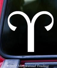 """ARIES Vinyl Decal Sticker 5"""" x 4.5"""" Astrology Zodiac Sign Fire Ram"""
