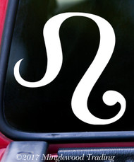 "LEO Vinyl Decal Sticker 5"" x 5"" Astrology Zodiac Sign Fire The Lion"
