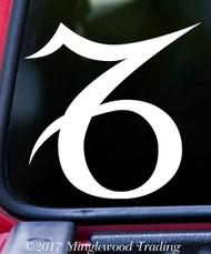 "CAPRICORN Vinyl Decal Sticker 5"" x 5"" Astrology Zodiac Sign Earth The Sea-Goat"