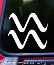 "AQUARIUS Vinyl Decal Sticker 5"" x 4.5"" Astrology Zodiac Sign Air The Water-Bearer"