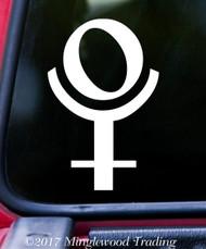 "PLUTO Planet Astrology Sign - 5"" x 3.25"" Vinyl Decal Sticker - Zodiac Planetary Glyph"