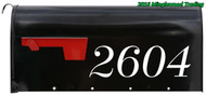 "Set of 2 CUSTOM MAILBOX HOUSE NUMBERS Vinyl Decal Stickers 11.5"" x 3.5"" Street Text"