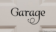 "GARAGE Vinyl Decal Sticker 7"" x 3.5"" Door Workshop Motorcycle Car"