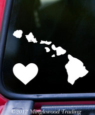 "HAWAII HEART State Vinyl Decal Sticker 6"" x 4.5"" Love HI"