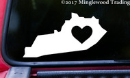 "KENTUCKY HEART State Vinyl Decal Sticker 6"" x 3"" Love KY"
