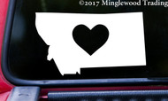 "MONTANA HEART State Vinyl Decal Sticker 6"" x 3.5"" Love MT"