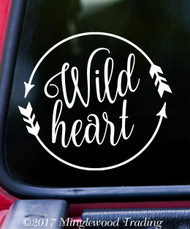 """WILD HEART 6"""" x 6"""" Vinyl Decal Sticker"""