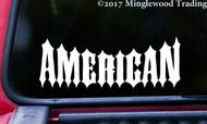 "AMERICAN 5.5"" x 2"" Vinyl Decal Sticker - Biker USA United States America"