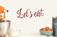 "Let's Eat 10"" x 3.5"" Vinyl Decal Sticker  - Kitchen Dining Room Meal"