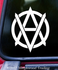 "VEGANARCHY 5.5"" x 4.5"" Vinyl Decal Sticker Vegan Anarchism"