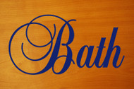 "Bath 7"" x 3.5"" Vinyl Decal Sticker - Bathroom Toilet Water Closet Shower"