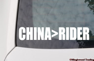 "CHINA>RIDER  8"" x 1.5"" Vinyl Decal Sticker - The Grateful Dead Bob Weir Jerry Garcia"