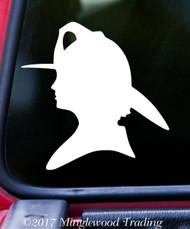 """FIREFIGHTER WOMAN SILHOUETTE 5"""" x 5"""" Vinyl Decal Sticker FD Fire Department"""